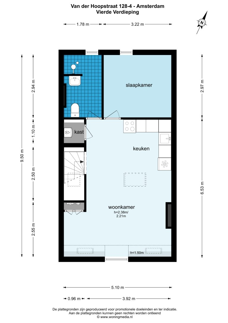 Van der Hoopstraat 128 IV, Amsterdam, Noord-Holland Netherlands, 1 Slaapkamer Slaapkamers, ,1 BadkamerBadkamers,Appartement,Huur,Van der Hoopstraat 128 IV,4,1435