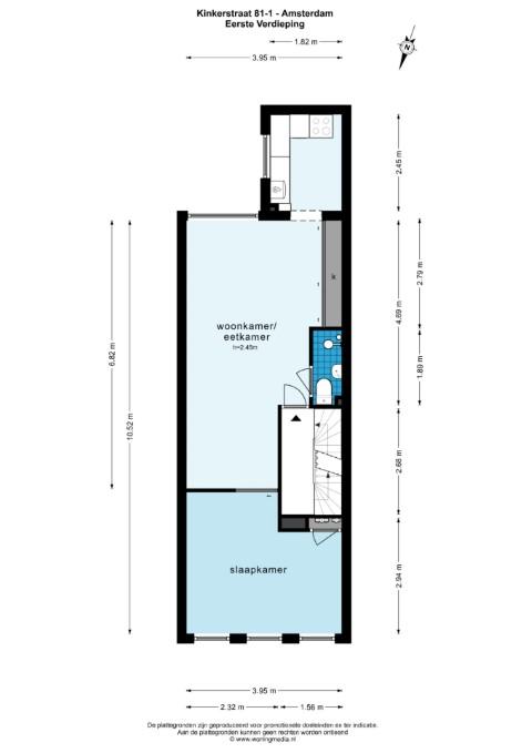 Kinkerstraat 81 1053 DH, Amsterdam, Noord-Holland Nederland, 1 Slaapkamer Slaapkamers, ,1 BadkamerBadkamers,Appartement,Huur,Kinkerstraat ,1,1497