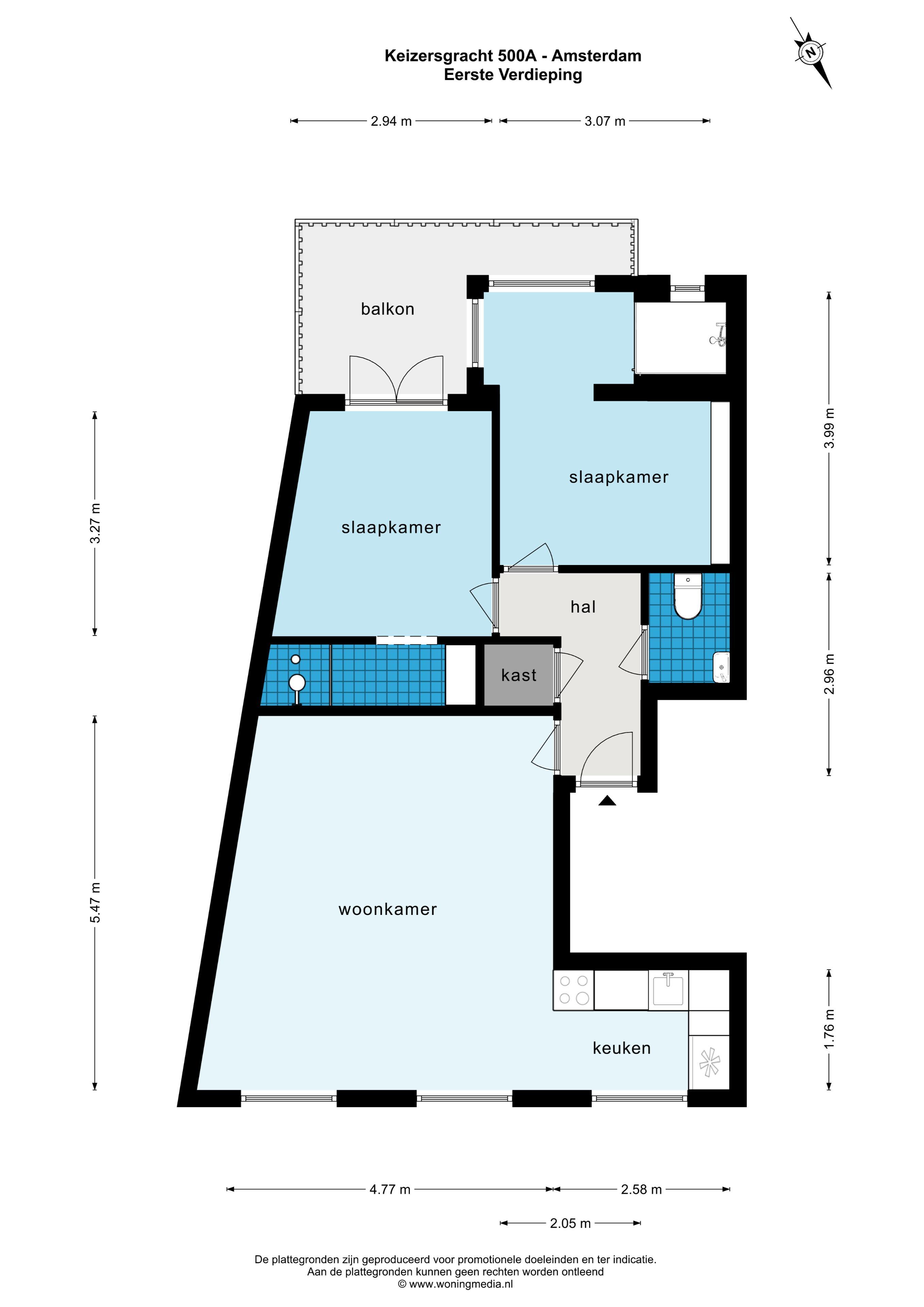Keizersgracht 500 A, Amsterdam, Noord-Holland Nederland, 2 Bedrooms Bedrooms, ,1 BathroomBathrooms,Apartment,For Rent,Keizersgracht,2,1517