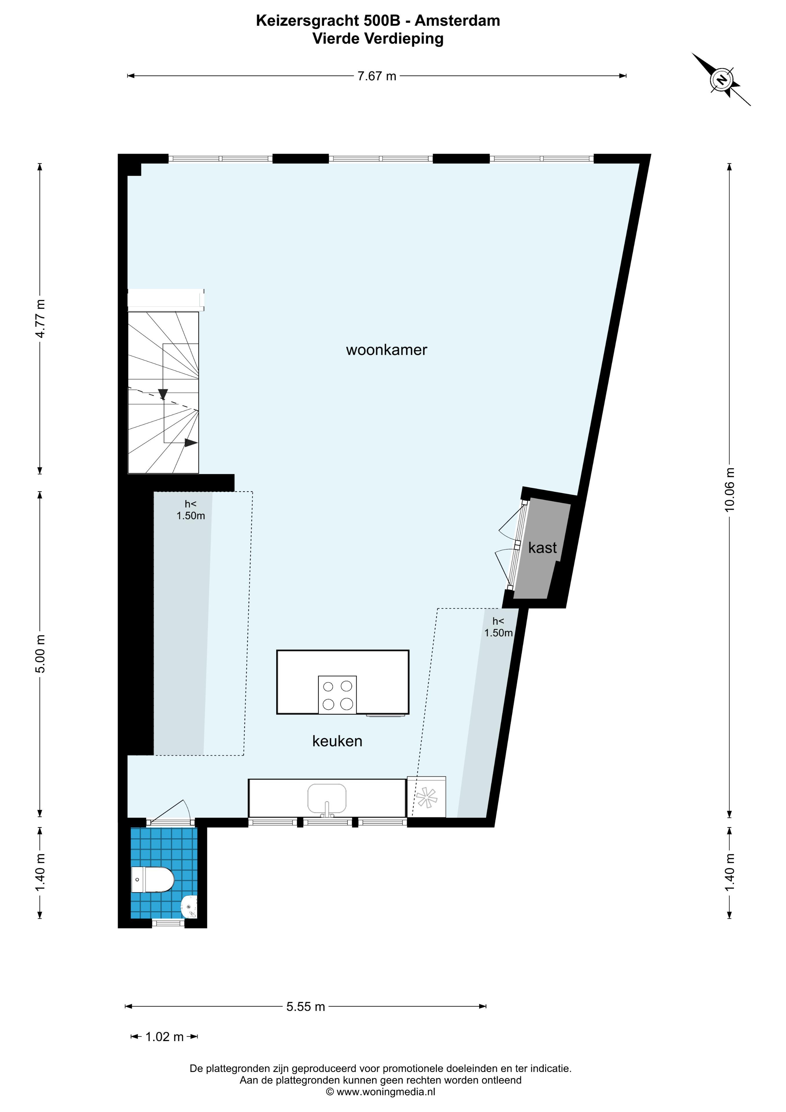 Keizersgracht 500 B, Amsterdam, Noord-Holland Nederland, 2 Slaapkamers Slaapkamers, ,1 BadkamerBadkamers,Appartement,Huur,Keizersgracht,2,1521