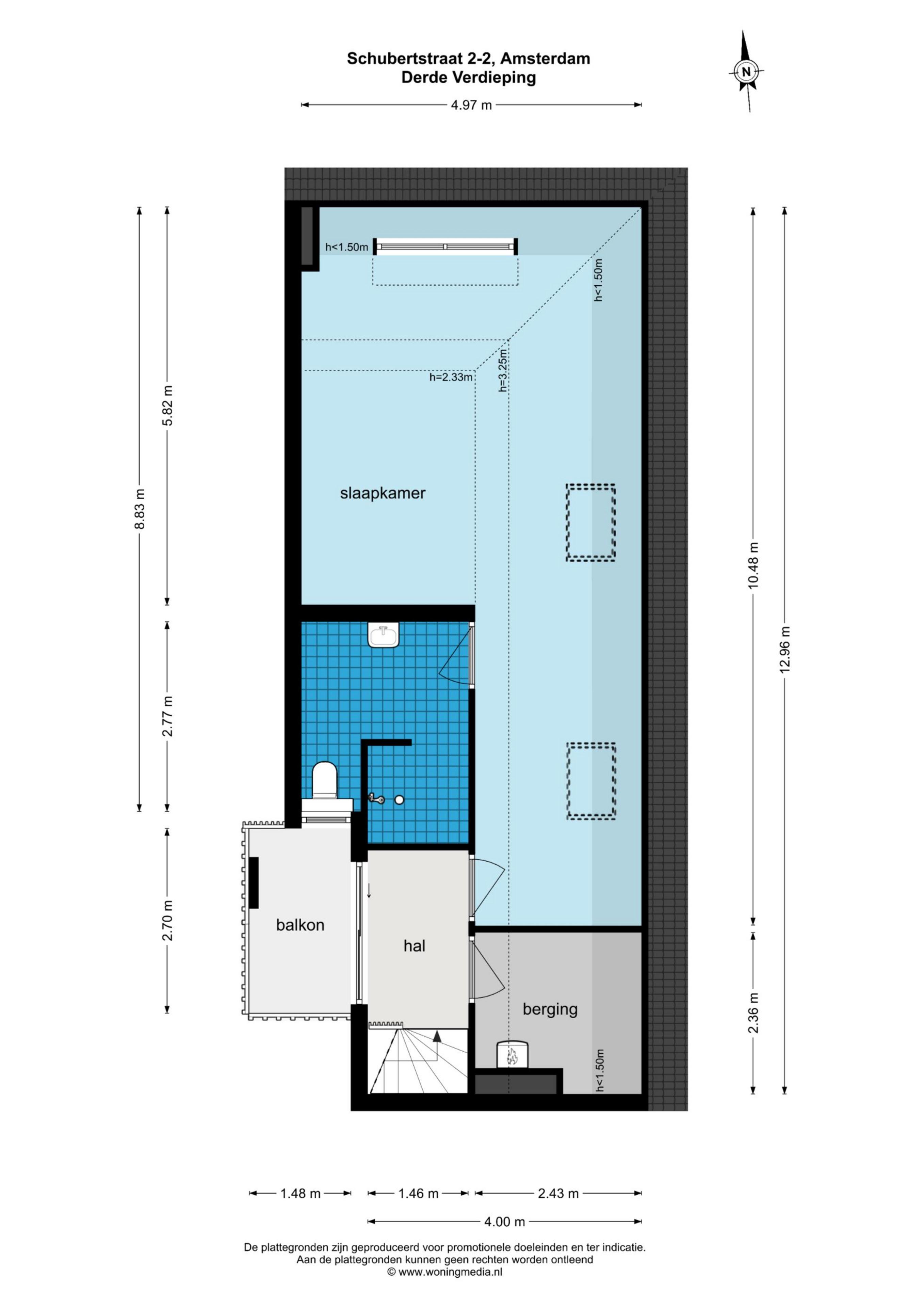 Schubertstraat 2 C 1077 GS, Amsterdam, Noord-Holland Netherlands, 2 Slaapkamers Slaapkamers, ,1 BadkamerBadkamers,Appartement,Huur,Schubertstraat,2,1528