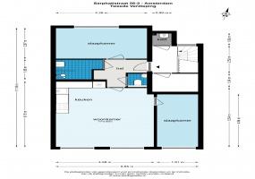Sarphatistraat 56 1018 GP, Amsterdam, Noord-Holland Nederland, 2 Slaapkamers Slaapkamers, ,1 BadkamerBadkamers,Appartement,Huur,Sarphatistraat 56 ,2,1566